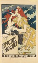 EUGÈNE GRASSET (1845-1917). ENCRE L. MARQUET. 1892. 43x26 inches, 110x67 cm. Affiches Artistiques Malherbe, [Paris.]