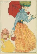 HENRI J.E. EVENEPOEL (1872-1899). [AU SQUARE.] 1897. 13x9 inches, 35x25 cm. [F. Champenois, Paris.]