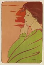 HENRI MEUNIER (1873-1922). [L''HEURE DU SILENCE.] 1897. 14x10 inches, 36x26 cm. [F. Champenois, Paris.]