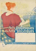 THÉOPHILE VAN RYSSELBERGHE (1862-1926). LA LIBRE ESTHÉTIQUE. 1896. 37x27 inches, 96x68 cm. Monom, Brussels.