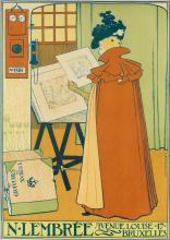 THÉOPHILE VAN RYSSELBERGHE (1862-1926). N. LEMBRÉE. Circa 1897. 24x17 inches, 63x44 cm. Monnom, Brussels.