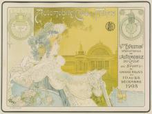 PRIVAT-LIVEMONT (1861-1936). AUTOMOBILE CLUB DE FRANCE / 6EME EXPOSITION. 1903. 13x18 inches, 34x46 cm. J. Barreau, Paris.