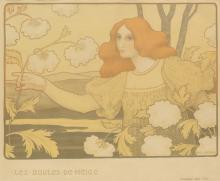 PAUL BERTHON (1872-1909). LES BOULES DE NEIGE. 1900. 18x22 inches, 45x56 cm. Chaix, Paris.