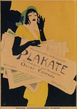 WALTER SCHNACKENBERG (1880-1961). [KOSTÜME / PLAKAT UND DEKORATIONEN.] Group of 5 posters. 1920. Each approximately 11x8 inches, 28x21