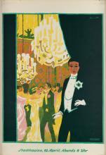 PAUL KAMMÜLLER (1885-1946). STADTKASINO. 1918. 41x28 inches, 105x72 cm. W. Wassermann, [Basel.]