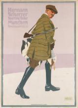LUDWIG HOHLWEIN (1874-1949). HERMANN SCHERRER. 1907. 49x35 inches, 125x89 cm. Vereinigte Druckereien & Kunstanstalten, Munich.