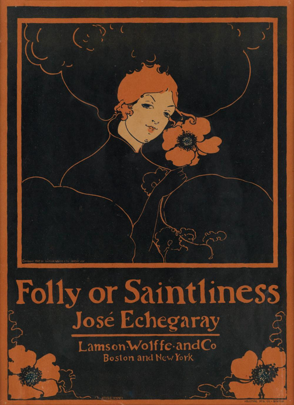 ETHEL REED (1876-1912). FOLLY OR SAINTLINESS. 1895. 19x14 inches, 49x36 cm. Heliotype Ptg. Co., Boston.