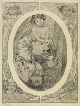 ALPHONSE MUCHA (1860-1939). [DOCUMENTS DÉCORATIFS DE MUCHA.] Group of three plates. 1902. Sizes vary, each approximately 14x7 inches, 3