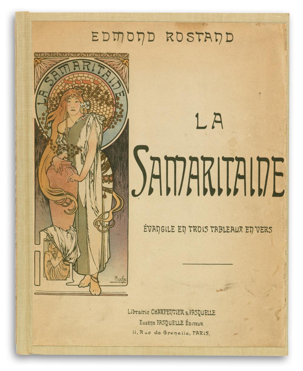 ALPHONSE MUCHA (1860-1939). LA SAMARITAINE. Book. 1897. 9x7 inches, 24x19 cm. Imprimeries Reunies, Paris.