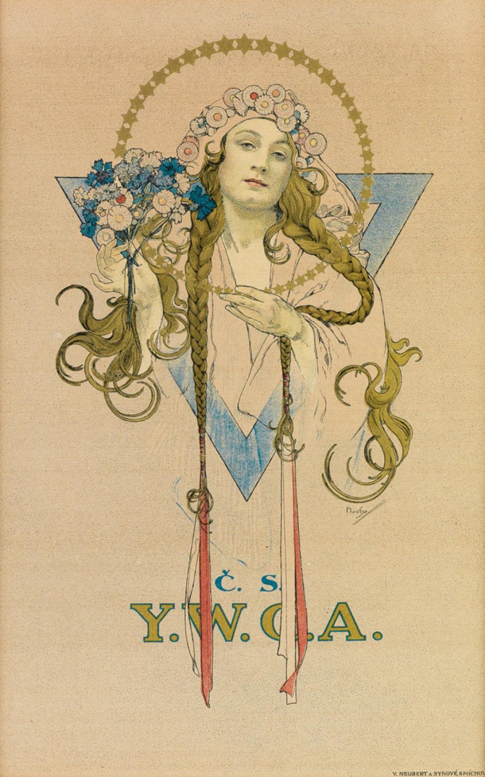 ALPHONSE MUCHA (1860-1939). C.S. / Y.W.C.A. 1922. 11x7 inches, 29x18 cm. V. Neubert A Synové, [Prague.]
