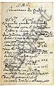MANUSCRIPT  CALANDRUCCI, GIACINTO.  [Fair copy of estate documents.]  Manuscript in Italian and Latin.  1708-37, Giacinto Calandrucci, Click for value