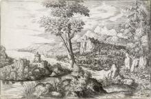 HANS LAUTENSACK A Landscape with a Castle.