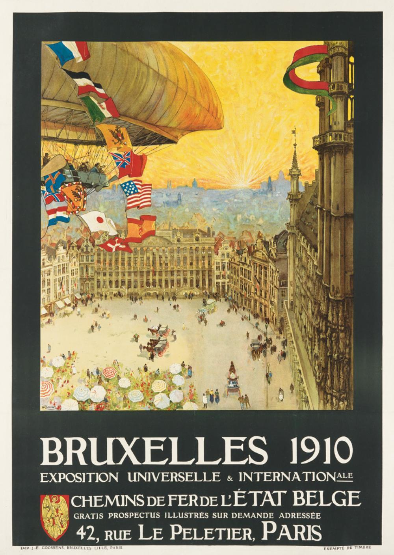 Goossens Design Bank.Henri Cassiers 1858 1944 Bruxelles Exposition Universel