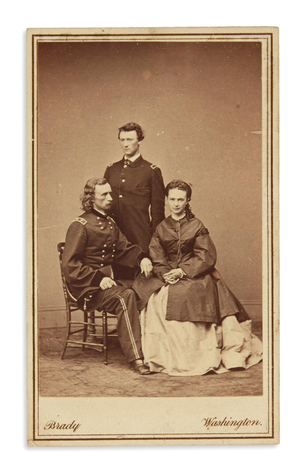 Carte De Visite Of Custer And Family
