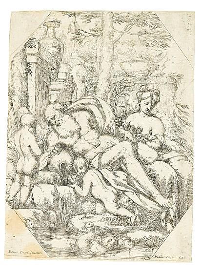 GIUSEPPE DIAMANTINI Group of 4 etchings.