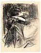 ALBERT DE BELLEROCHE Mlle. Clifton, de profil., Albert