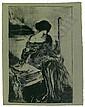 ALBERT DE BELLEROCHE Femme assise., Albert