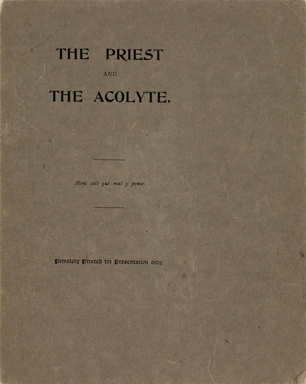 OSCAR WILDE (1854-1900)  The Priest and the Acolyte * The Harlot's House.