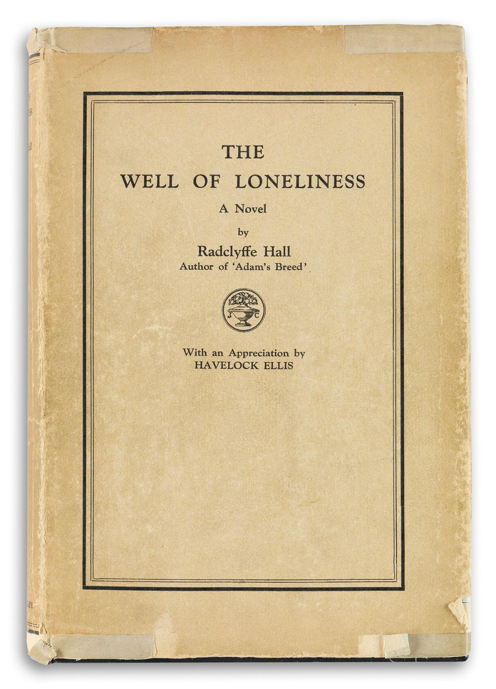 RADCLYFFE HALL (1880-1943)  The Well of Loneliness.