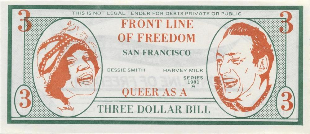 VARIOUS DESIGNERS  Group of 8 pieces of San Francisco ephemera relating to the Gay Rights era of the 1970s and 80s.