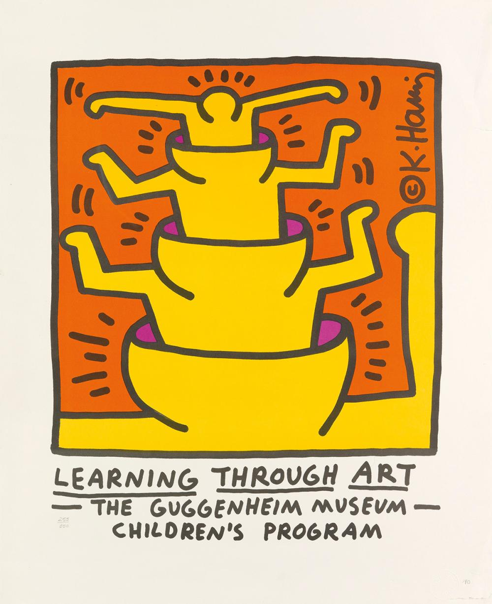 KEITH HARING (1958-1990)  Learning Through Art / Guggenheim Museum.