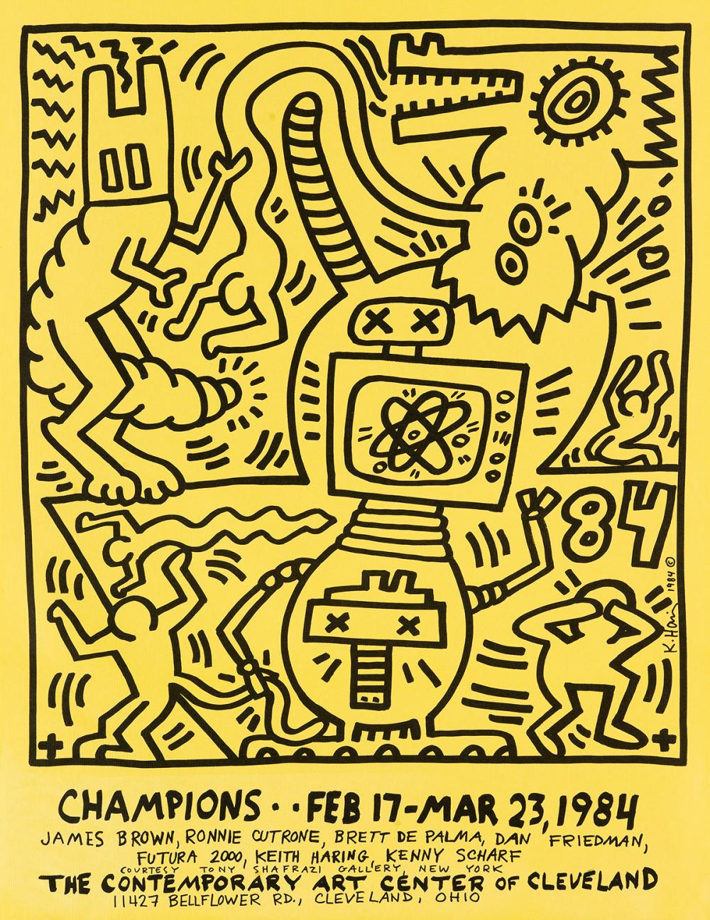 KEITH HARING (1958-1990)  Champions / The Contemporary Art Center of Cleveland.