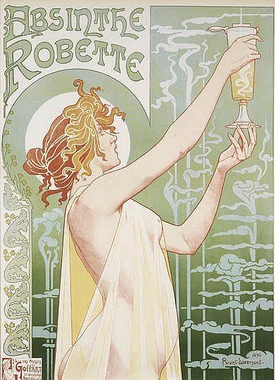 HENRI PRIVAT-LIVEMONT Absinthe Robette.