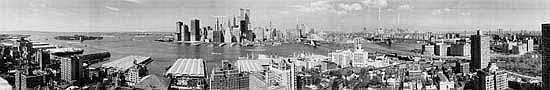 GOLDBECK, EUGENE O. (1892-1986) Group of 13 panoramic photographs comprising