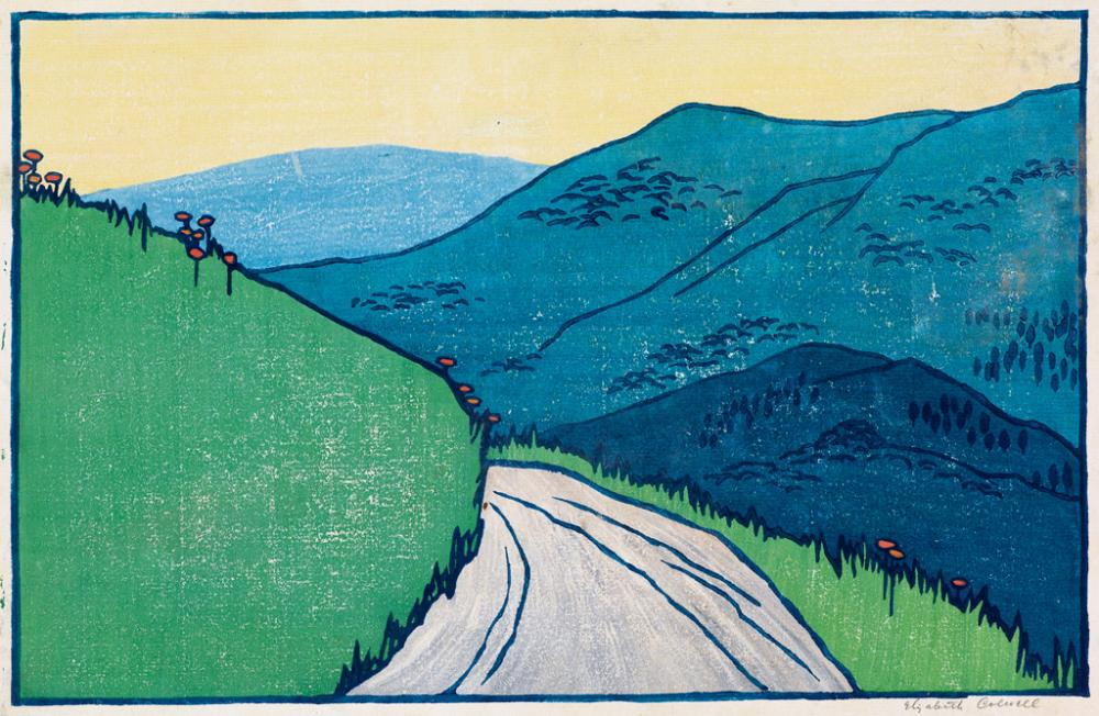 ELIZABETH COLWELL Two color woodcuts.