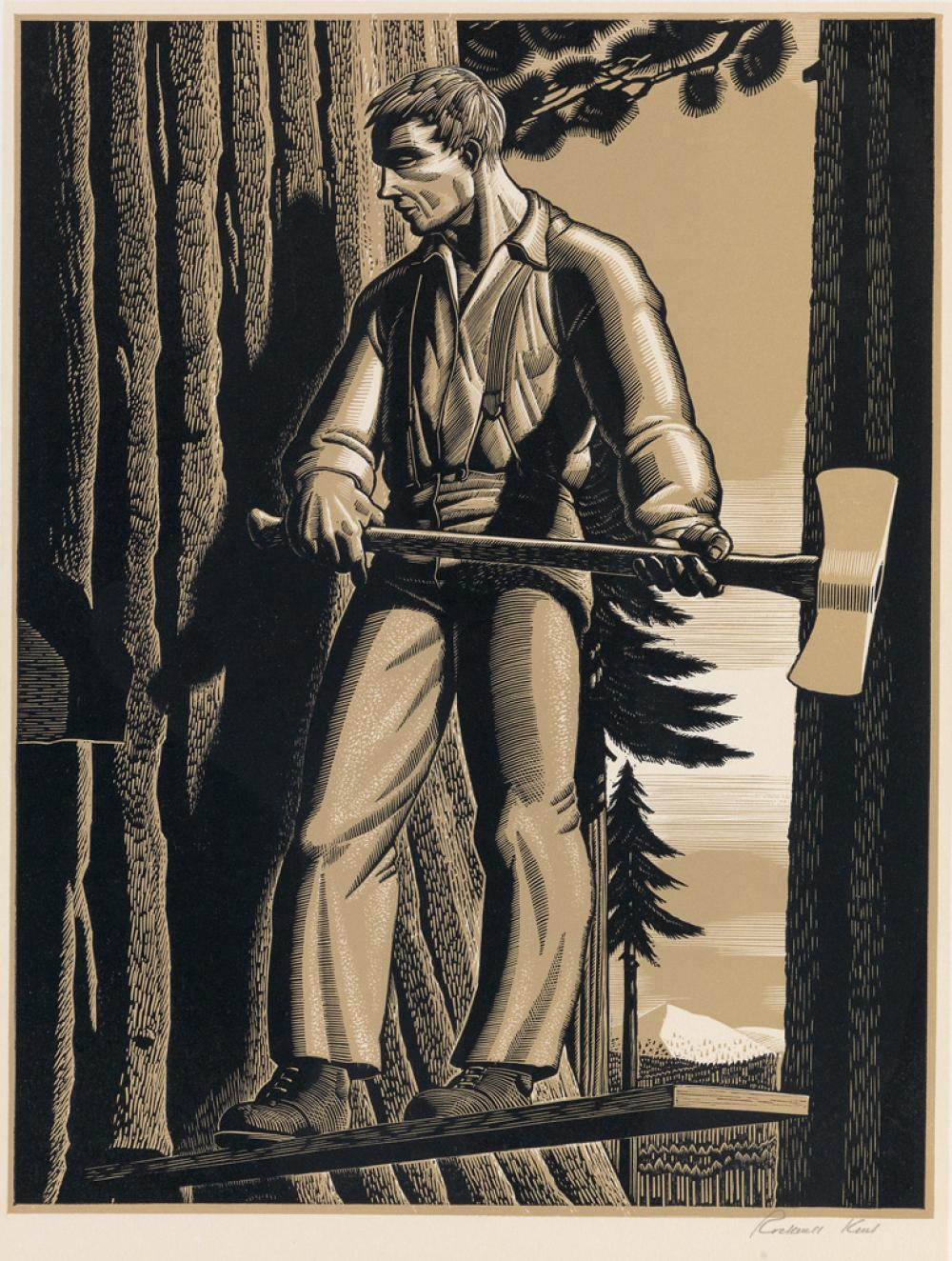 Sold Price: Rockwell Kent wood engraving - February 6