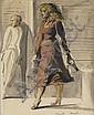 REGINALD MARSH Woman Walking.