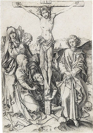 MARTIN SCHONGAUER The Crucifixion.
