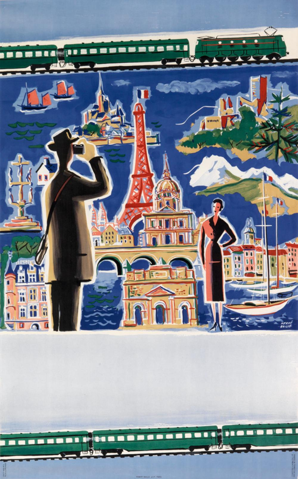 HERVÉ BAILLE (1896-1974). [S.N.C.F.] 1953. 39x25 inches, 101x64 cm. Hubert Baille, Paris.