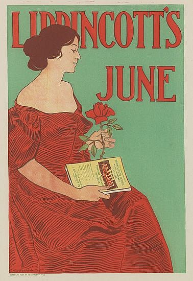 JOSEPH J. GOULD, JR. (1880-1935). LIPPINCOTT'S / JUNE. 1896. 14x10 inches, 36x25 cm.