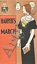 EDWARD PENFIELD (1866-1925). HARPER'S MARCH. 1896. 18x10 inches, 46x27 cm., Edward Penfield, Click for value