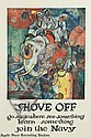 JAMES H. DAUGHERTY (1889-1974). SHOVE OFF / JOIN THE NAVY. 41x28 inches, 105x72 cm., James Henry Daugherty, Click for value