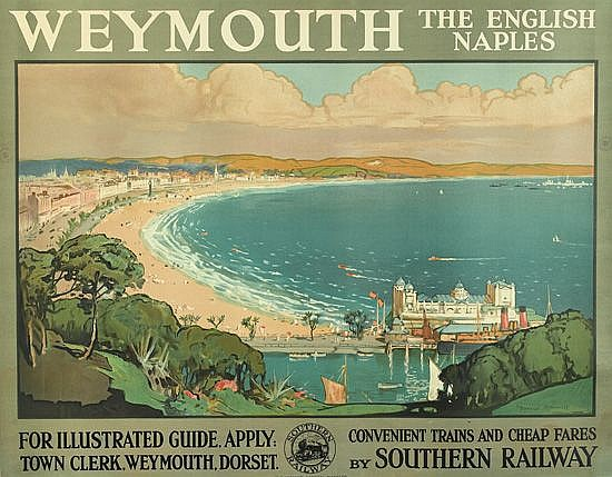 DONALD MAXWELL (1877-1936). WEYMOUTH. Circa 1935. 39x50 inches, 101x127 cm.