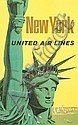 STANLEY WALTER GALLI (1912 - ?). NEW YORK / UNITED AIR LINES. 39x25 inches, 101x64 cm., Stanley Walter Galli, Click for value
