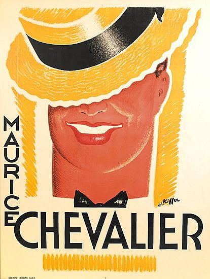 CHARLES KIFFER (1902-1992). MAURICE CHEVALIER. 1936. 63x46 inches, 160x116 cm.