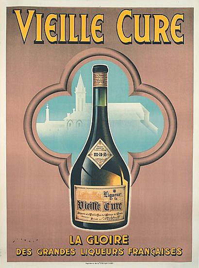 ANDRE WILQUIN (1899-2000). VIEILLE CURE. Circa 1935. 64x47 inches, 162x119 cm. Imprimerie de la Vieille Cure, Paris.