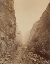 WILLIAM HENRY JACKSON (1843-1942) The Royal Gorge - Grand Canon of Arkansas.