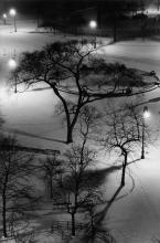 ANDRÉ KERTÉSZ (1894-1985) Washington Square Park at Night.