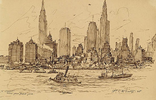 WILLIAM MCNULTY View of New York from Brooklyn.