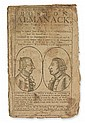 (AMERICAN REVOLUTION.) West, Benjamin. Bickerstaff's Boston Almanack, for the Year of our Redemption, 1778.