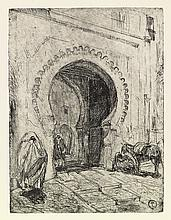 HENRY OSSAWA TANNER (1859 - 1937) Gate in Tangier.