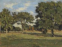 WILLIAM A. HARPER (1873 - 1910) Untitled (French Pasture with Trees).