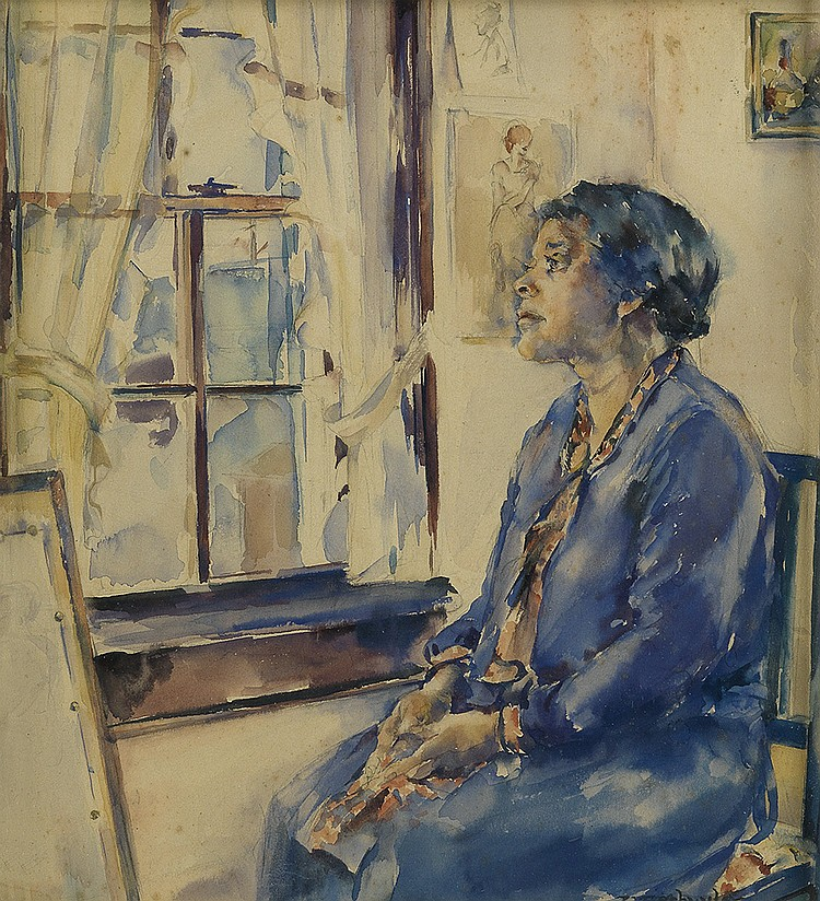 VIVIAN SCHUYLER KEY (1905 - 1990) Portrait of Mother Jessie Schuyler.