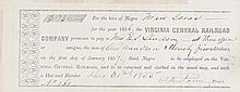 """(SLAVERY AND ABOLITION.) RENTAL OF SLAVE FOR RAILROAD. """"For the Hire of Negro Man Isaac."""""""