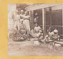(SLAVERY AND ABOLITION--CUBA.) BARNARD, GEORGE, PHOTOGRAPHER. Six Stereopticon Views of slaves in Cuba, circa 1860.