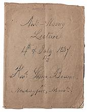 (SLAVERY AND ABOLITION.) BOURNE, GEORGE AND THEODORE BOURNE. ROBERT CAMPBELL , MARTIN R. DELANY, HENRY HIGHLAND GARNETT, REVEREND CHARL